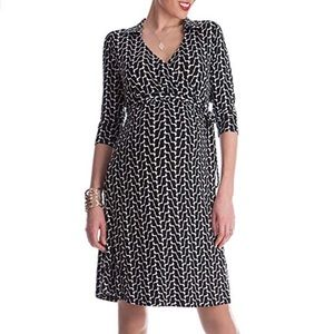 Seraphine Maternity Geo Print Wrap Dress